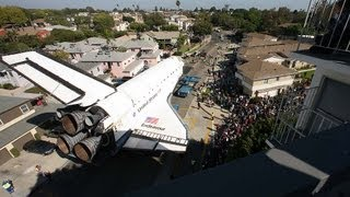 Space shuttle Endeavour's trek across LA: Timelapse