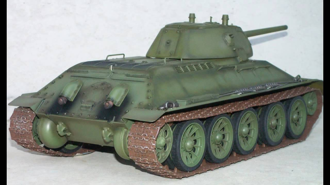 RC tank T-34/76 welded turret ラジコン戦車 - YouTube