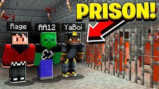Breaking into a HAUNTED Minecraft Prison! *SCARY*