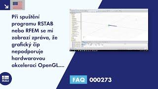 [EN] FAQ 000273 | Při spuštění programu RSTAB nebo RFEM se zobrazí zpráva, že procesor nepodporuj...