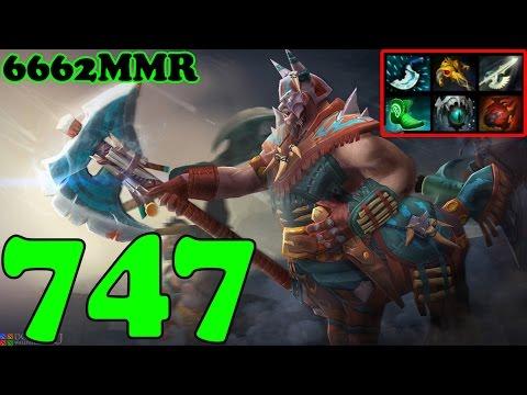 Dota 2 - 747 6662 MMR Plays Centaur Warrunner - Ranked Match Gameplay