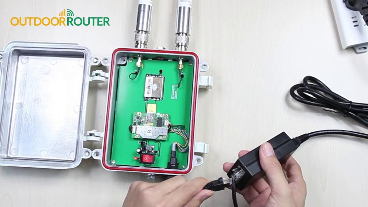 Outdoor 4G Router - Insert SIM Card and External Antennas