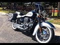Brand New 2019 Harley-Davidson Softail Heritage Classic 114 in Billiard Blue and Antique White