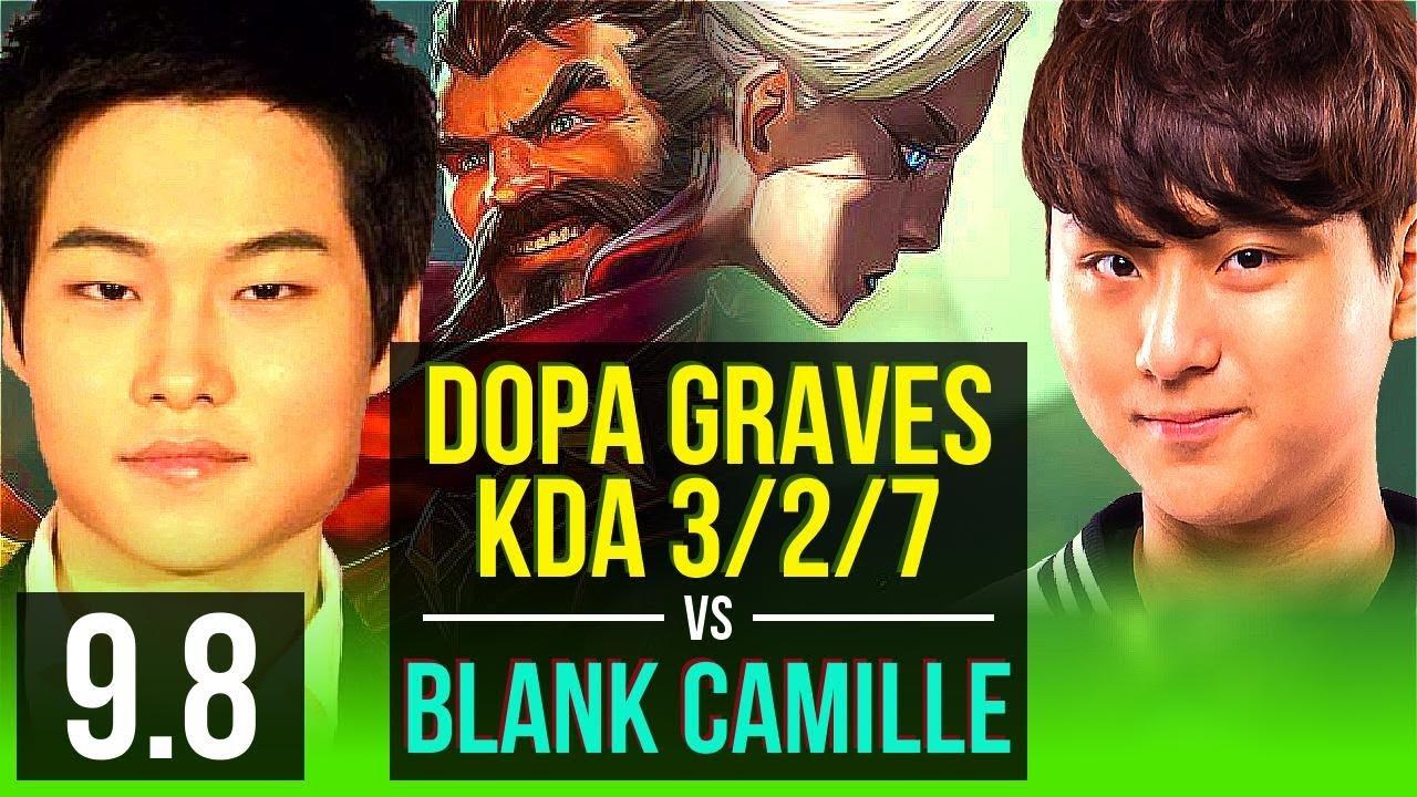Download Climb the ladder like Dopa GRAVES vs Blank CAMILLE (JUNGLE)   KDA 3/2/7   Korea Challenger   v9.8
