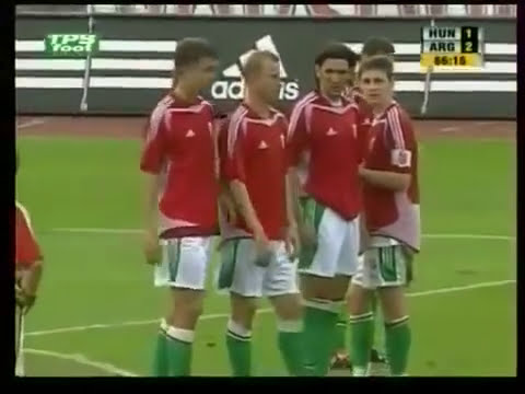 First red card to Messi with Argentina vs Hungary 2005
