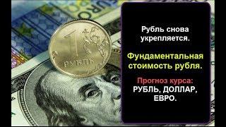 Смотреть видео Рубль укрепляется. Фундаментальная стоимость рубля. Прогноз курса доллара. Рубль, Доллар, Евро. онлайн