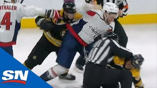 David Pastrnak Decides To Fight Tom Wilson Then Everyone Gets Involved