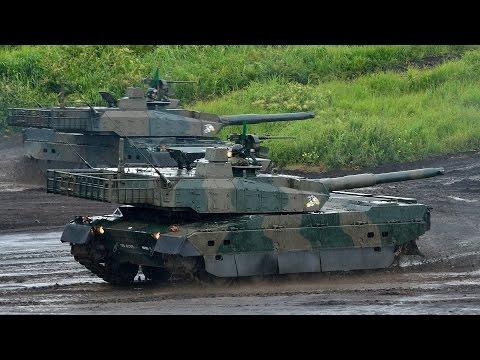 Japan's Mitsubishi Type 10 Main Battle Tank Slalom Shooting Live Fire Accuracy JGSDF