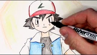 Pokémon Trainer Ash Ketchum Speed Drawing Marathon #0