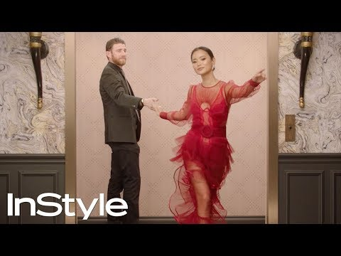 Bryan Greenberg & Jamie Chung | 2019 Golden Globes Elevator | InStyle
