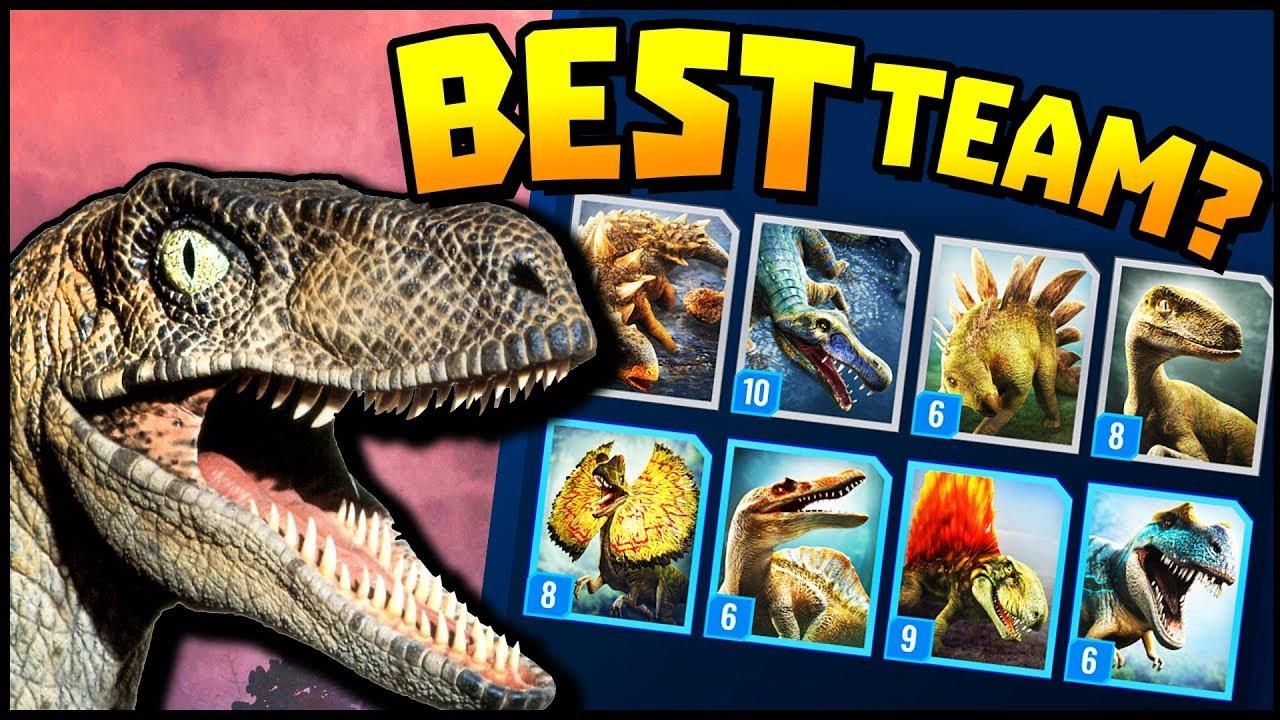 Jurassic World Alive - BEST TEAM FOR EARLY GAME!? (Jurassic World ...