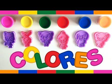 Aprende Colores con Plastilina de Plim Plim   Jugando con Masas y Canciones Infantiles