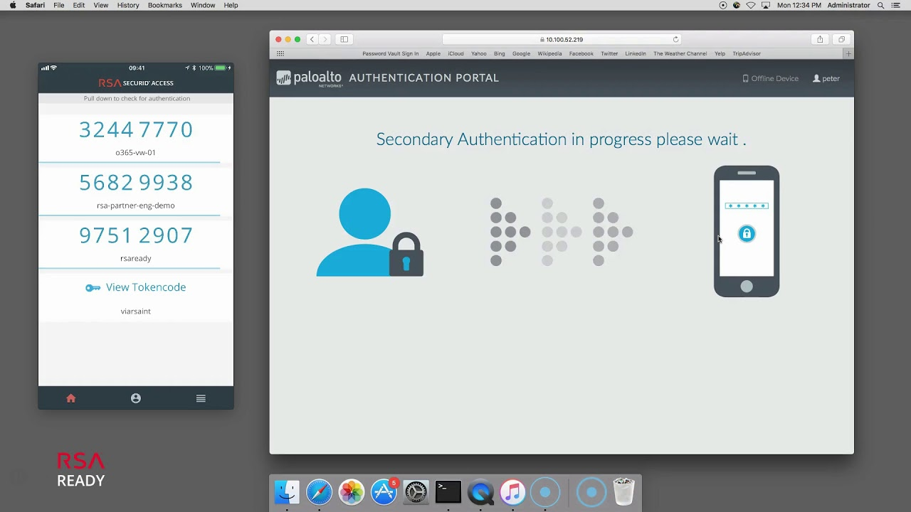 rsa ready rsa securid access palo alto networks captive portal mfa api integration