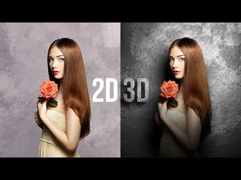Convert Flat 2D to Real 3D in Photoshop! thumbnail