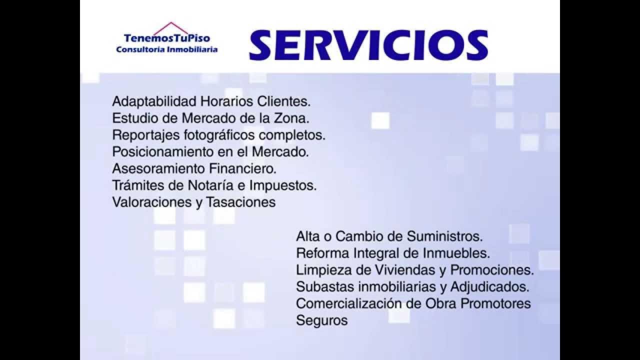 V deo presentaci n de tenemos tu piso consultor a for Tu piso inmobiliaria