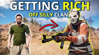 I GOT RICH OFF THIS SILLY CLAN! - Rust Survival 3/4