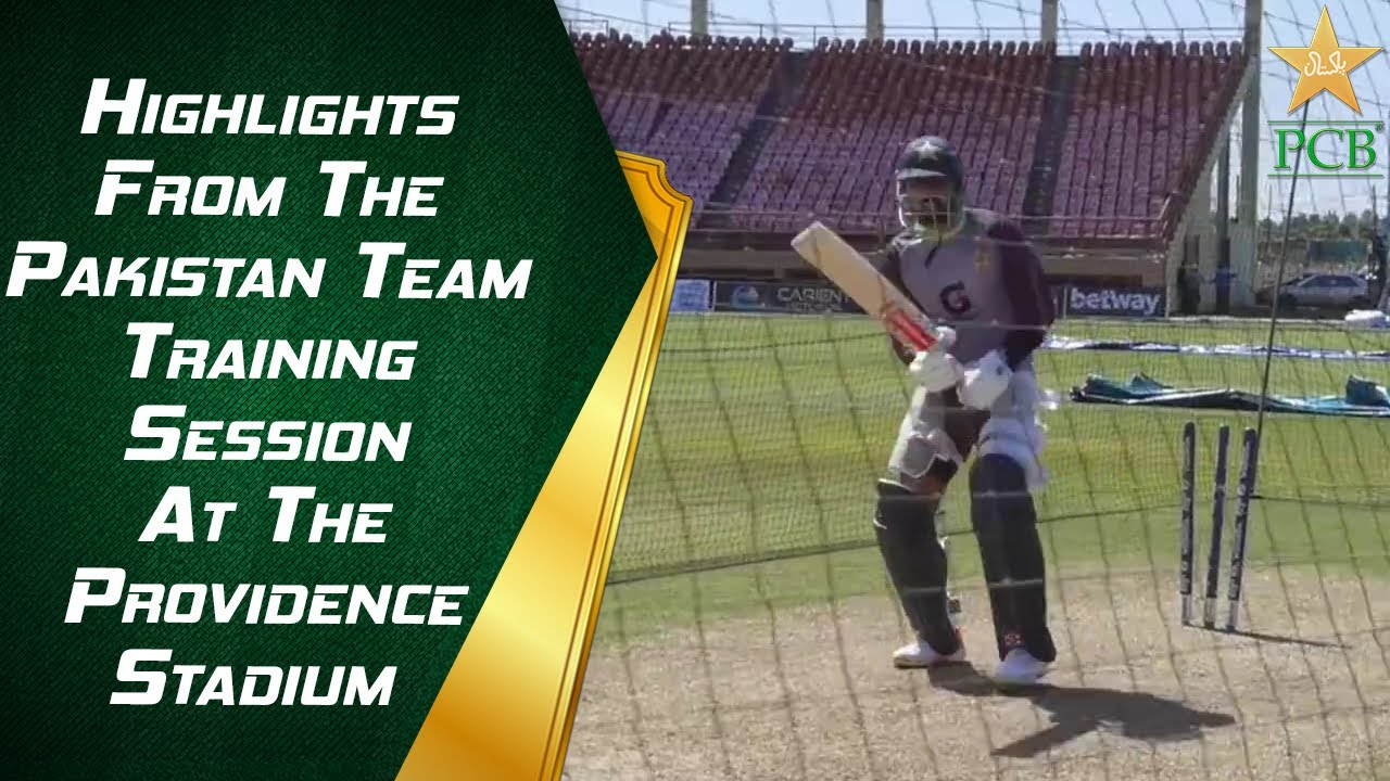 Highlights From The Pakistan Team Training Session At The Providence Stadium, Guyana | PCB | MA2E