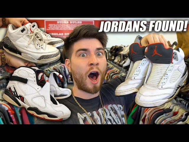 3 PAIRS OF JORDANS FOUND IN THE THRIFT! $250 JACKET FIND! Trip to the Thrift #314