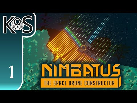 Nimbatus Ep 1: CREATE-A-DRONE! - (Space Drone Constructor) - First Look - Let's Play, Gameplay