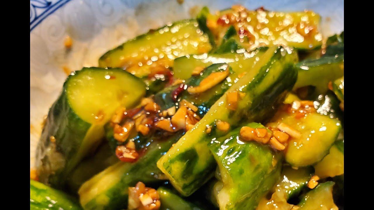 涼拌蒜香青瓜 / 加鹽後有這個效果 Cucumber with  Garlic Sauce 【20無限】