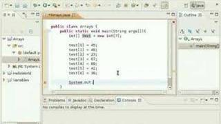 Java Video Tutorial 5: How to use Arrays (Pt 1 of 2)