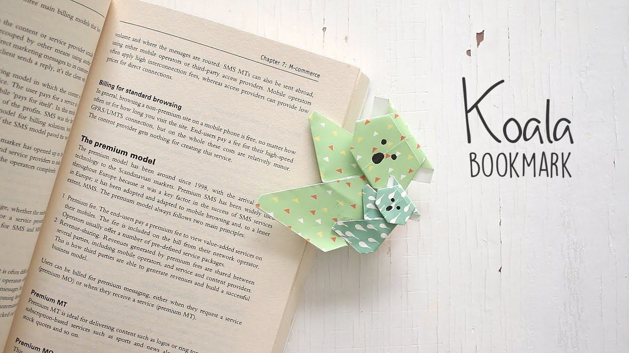 DIY Koala Bookmark