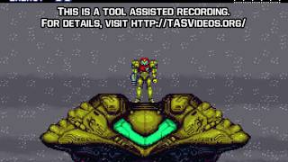 "[TAS] SNES Super Metroid ""game end glitch"" by Sniq, Total & Aran Jaeger in 07:09.68"
