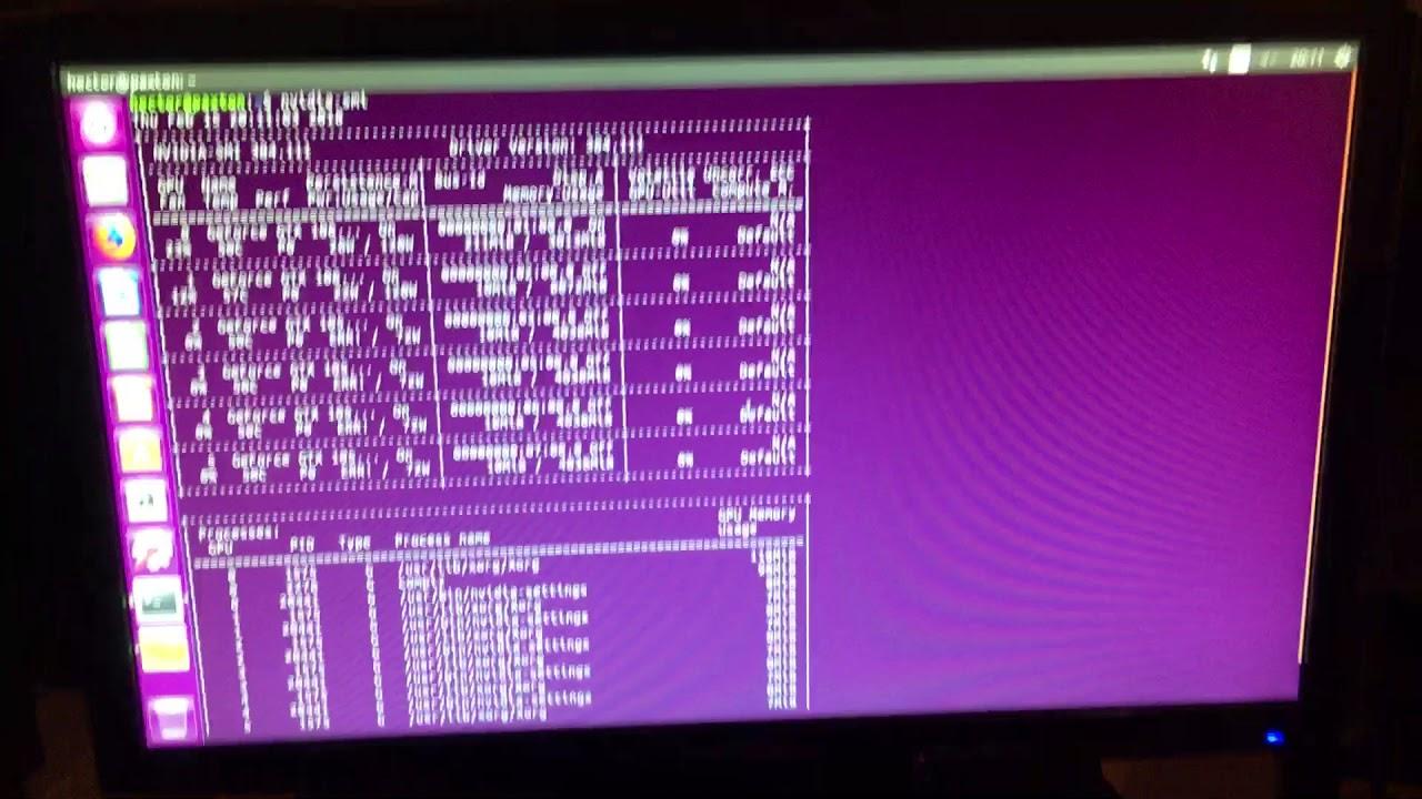 Ethereum Mining Overclock Nvidia GPU Linux Ubuntu part 1