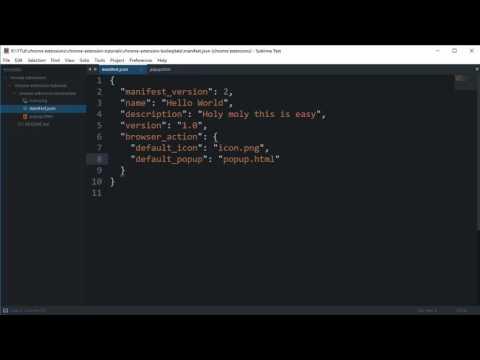 Chrome Extension Tutorial 3: Manifest.json
