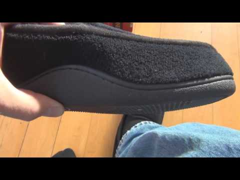 Isotoner Mens Microterry Slip On Slippers Unboxing