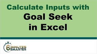 Use Goal Seek to Determine Necessary Values