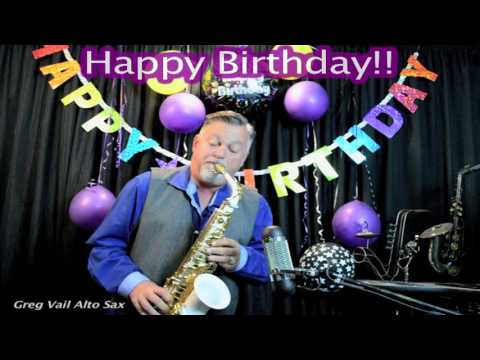 Happy Birthday on Alto Sax - Musical Greeting Cards - Long
