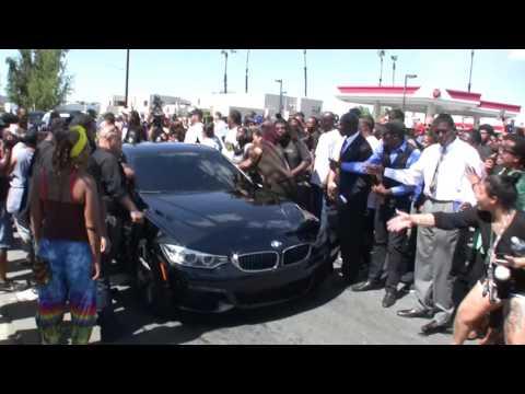 El Cajon Protest vehicle attacked