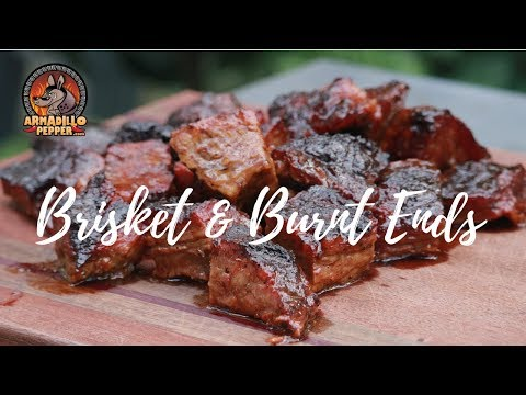 Brisket Burnt Ends and Smoked Brisket on the Pit Barrel Cooker