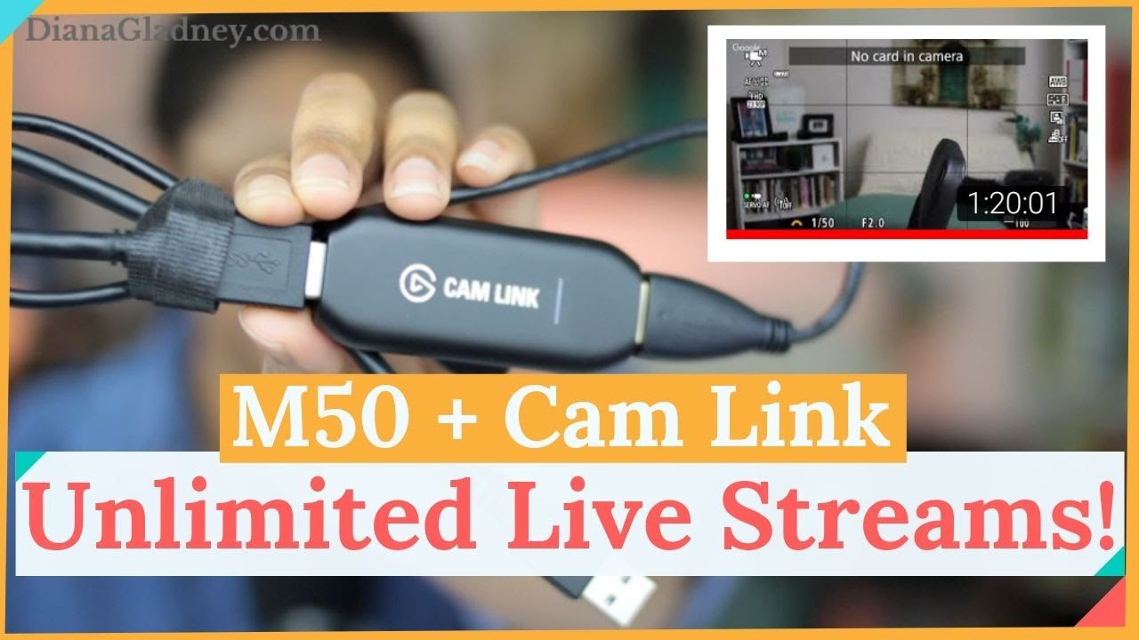 How to Live Stream Longer Than 30 Minutes on Canon M50 with Elgato Cam Link