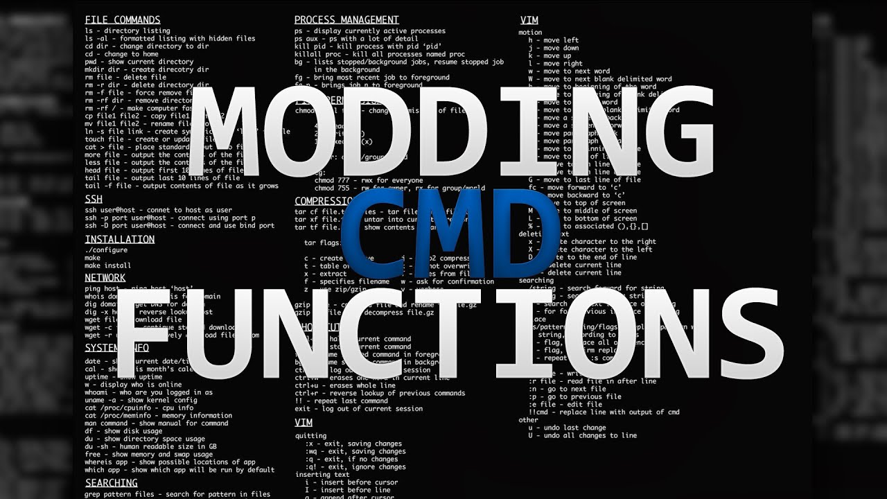 #ENDSCAMMING - How to create modified CMD commands