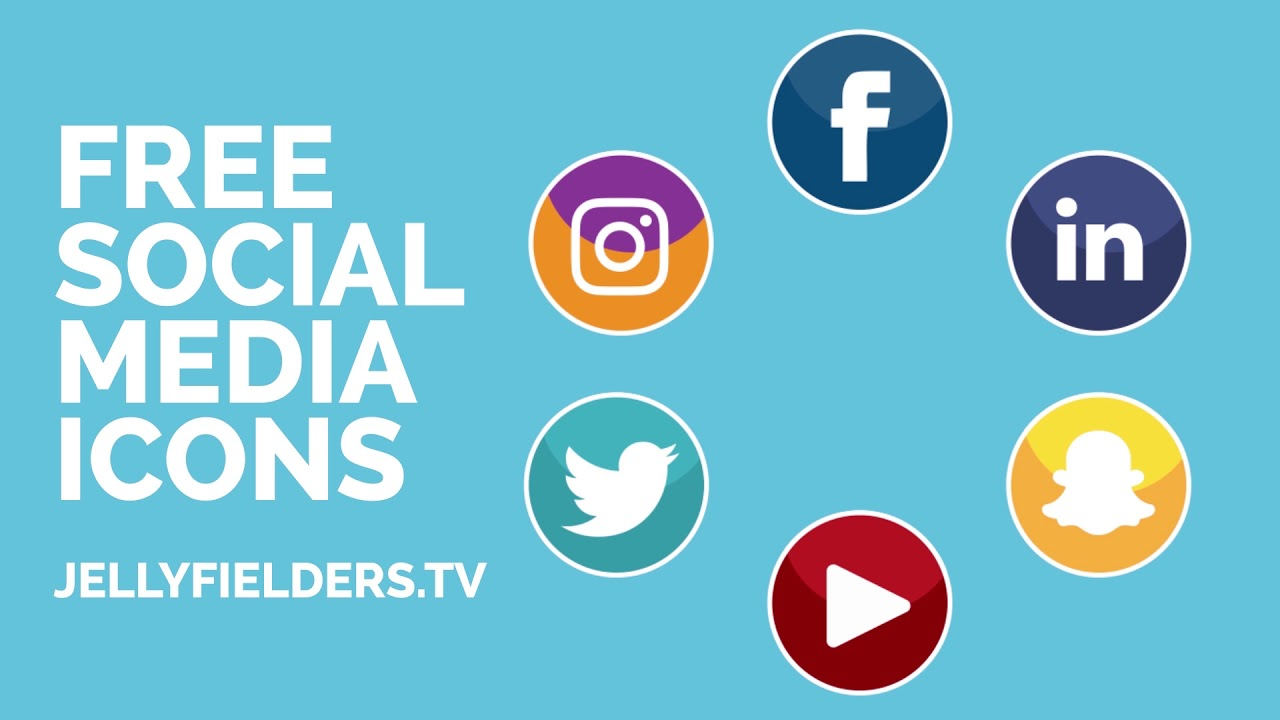 6 FREE animated social media icons