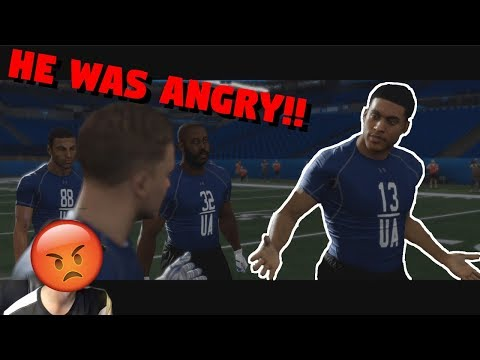 WE ALMOST GOT KICKED OUT OF THE COMBINE!! Madden 18 Longshot Episode#1
