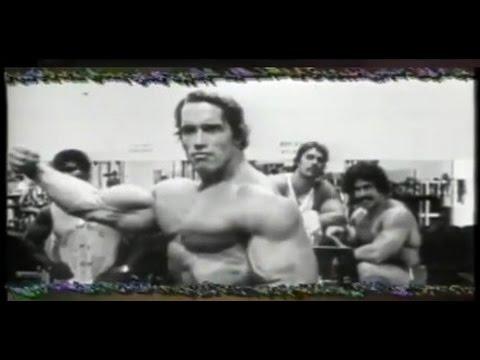 Rare arnold schwarzenegger posing youtube malvernweather Choice Image