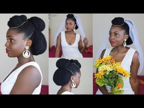 Natural Bride 2: Bridal Updo on 4c Natural hair ft AsIam