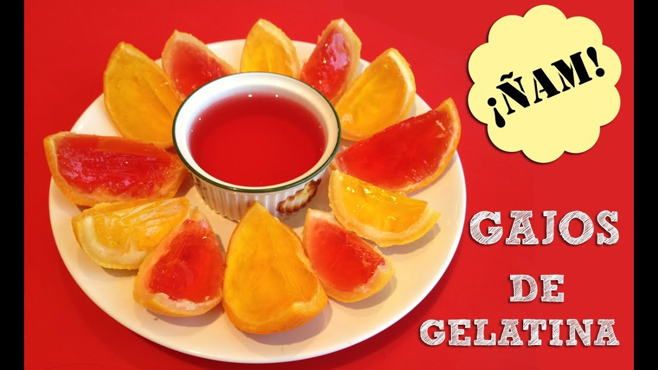 Meriendas divertidas para ni os gelatina de colores en - Cosas para construir en casa ...