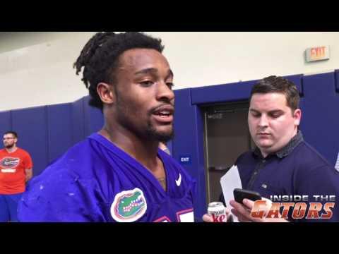 Florida Gators RB Jordan Scarlett, WRs Joshua Hammond and Brandon Powell speak to the media