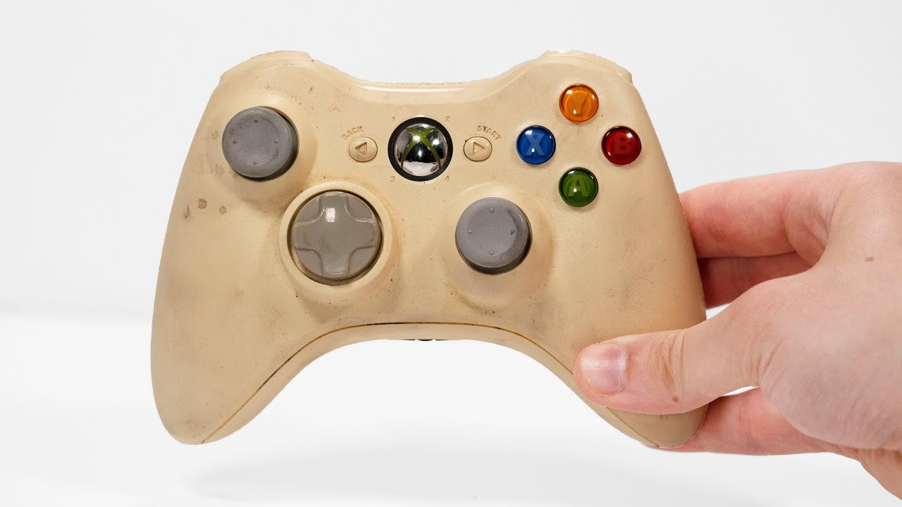 Yellowed Xbox 360 Controller Restoration - Gaming Console Repair