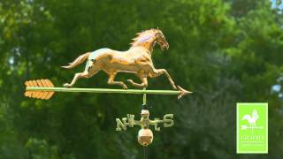 Good Directions 580p Horse With Arrow Weathervane - Polished Copper