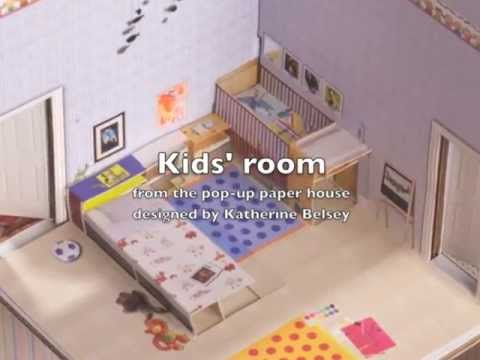 Kids room for the Pop-Up Paper House - YouTube