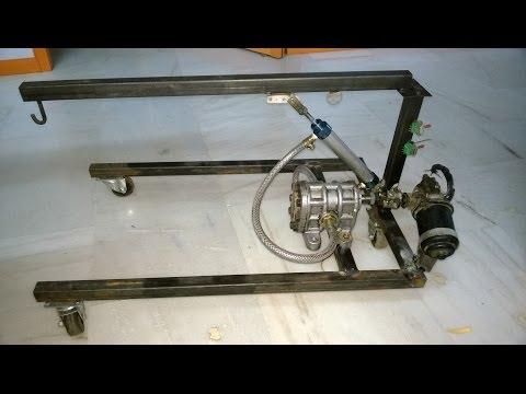 hydraulic floor crane mechanical engineering project topics