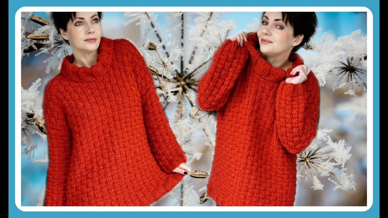 Einfacher Pullover Stricken Anleitung Mit Rollkragen Für Anfänger I