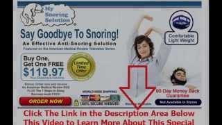 tricks to stop snoring | Say Goodbye To Snoring