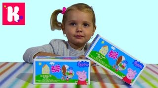������ ����� ������� ��������� ��� ���������� ������� Peppa Pig Bip Surprise eggs with toys