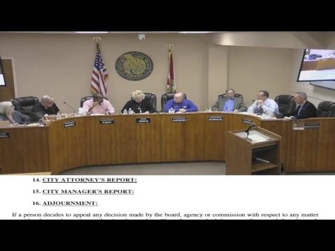 City of Lake Worth, FL  Commission Meeting ( Dec 12, 2017)